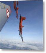 Swiss Air Force Display Team, Pc-7 Metal Print