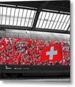 Swiss Train To Zurich Metal Print