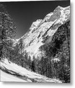 Swiss Winter Mountains Metal Print