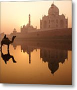Taj Mahal At Sunrise Metal Print