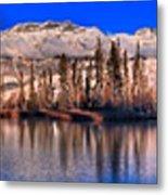 Talbot Lake Afternoon Panorama Metal Print