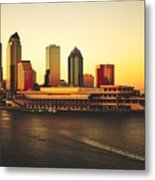 Tampa At Sunset Metal Print