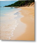 Tangalooma Island Beach In Moreton Bay.  Metal Print