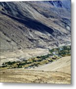 Tangsey Village Landscape Of Leh Ladakh Jammu And Kashmir India Metal Print
