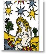 Tarot Card The Stars Metal Print