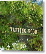 Tasting Room Sign Metal Print