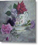 Teacup Rose Metal Print
