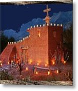 Ted Degrazia's Little Gallery Mission In The Sun Tucson Petley Postcard C.1968-2013 Metal Print