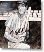 Ted Williams Metal Print by Dave Olsen
