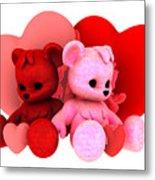 Teddy Bearz Valentine Metal Print
