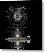 Tesla Generator Patent 1891 Metal Print