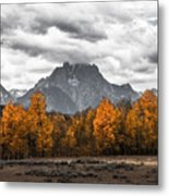 Teton Fall - Modern View Of Mt Moran In Grand Tetons Metal Print