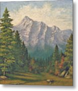 Teton Meadow Metal Print