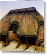 Thatched Barn Of Old Metal Print