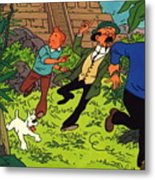 The Adventures Of Tintin Metal Print