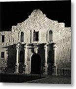 The Alamo At Night - San Antonio Texas Metal Print