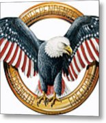 The American Eagle Metal Print