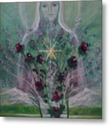 The Angel Of Roses Metal Print