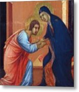 The Arrival Of The Apostles To The Virgin Fragment 1311  Metal Print