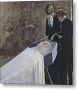 The Artist Attending The Mourning Of A Young Girl Metal Print