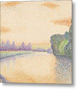 The Banks Of The Marne At Dawn Metal Print