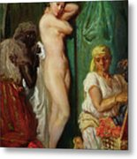 The Bath In The Harem Metal Print