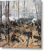 The Battle Of Shiloh Metal Print