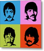 The Beatles Colors Metal Print