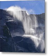 The Beautiful Bridalveil Falls Of Yosemite Metal Print