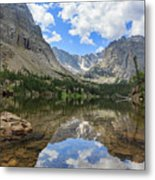 The Beautiful The Louch Lake With Reflection And Clear Water Metal Print