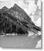 The Beauty Of Lake Louise Bw Metal Print