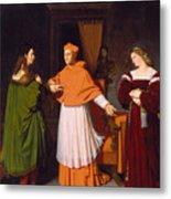 The Betrothal Of Raphael And The Niece Of Cardinal Bibbiena Metal Print