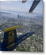 The Blue Angels Over Seattle Metal Print