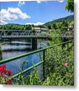 The Bridges At Shelbourne Falls Metal Print