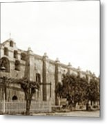 The Campanario, Or Bell Tower Of San Gabriel Mission Circa 1890 Metal Print