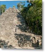 The Church At Grupo Coba At The Coba Ruins  Metal Print