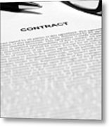 The Legal Contract Metal Print