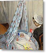 The Cradle - Camille With The Artist's Son Jean Metal Print