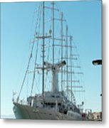 The Cruise Ship 'wind Surf' Metal Print