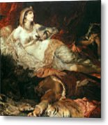 The Death Of Cleopatra Metal Print