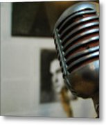 The Elvis Mic Metal Print by JAMART Photography