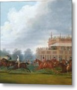 The Finish Of The St. Leger Stakes Metal Print