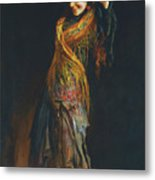 The Flamenco Dancer Metal Print