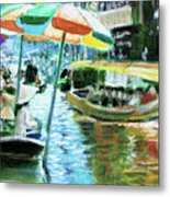 The Floating Market Metal Print
