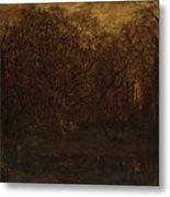 The Forest In Winter At Sunset Metal Print