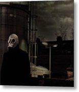 the Gas Mask Man Metal Print