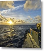 The Guided-missile Cruiser Uss Monterey Metal Print