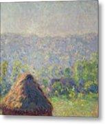 The Haystacks Metal Print by Claude Monet