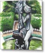 The Hidden Fountain Metal Print