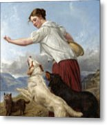 The Highland Lassie Metal Print